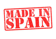 MADE IN SPAIN Rubber Stamp Stock Images