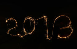 2013 made a sparkler Royalty Free Stock Image
