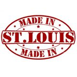 Made in St. Louis. Stamp with text made in St. Louis inside,  illustration Stock Photography