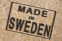 Made in SWEDEN Royalty Free Stock Photography