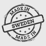 Made in Sweden rubber stamp isolated on white. Stock Photos