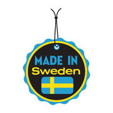 Made in Sweden tag stock images
