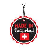 Made in Switzerland tag stock photography