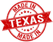 Made in Texas red round stamp Royalty Free Stock Photo