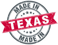 Made in Texas red round stamp Stock Images
