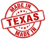 Made in Texas stamp Stock Photo