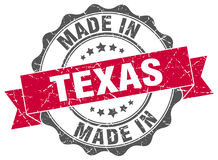 Made in Texas seal. Made in Texas round seal royalty free illustration