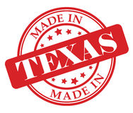 Made in Texas stamp Royalty Free Stock Image