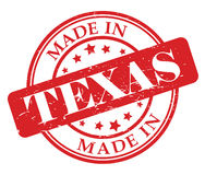 Made in Texas stamp Royalty Free Stock Photo