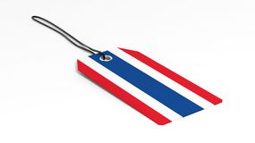 Made in Thailand price tag with national flag Royalty Free Stock Photos