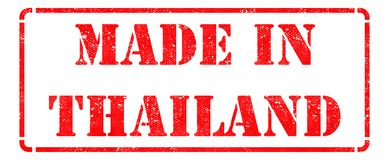 Made in Thailand - Red Rubber Stamp. Stock Photo