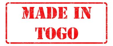 Made in Togo on Red Stamp. Royalty Free Stock Photos