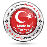 Made in Turkey. Premium Quality - label / icon / badge. With the map and flag of Turkey Royalty Free Stock Image