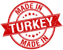 Made in Turkey red round stamp Royalty Free Stock Photos