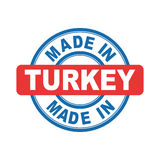 Made in Turkey. Vector emblem flat Stock Photos