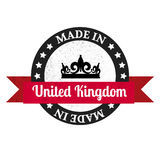 Made in U.K badge. Made in United Kingdom Stock Photos