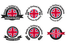 Made in U.K badge set with United Kingdom Royalty Free Stock Photo