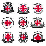 Made in U.K badge set with United Kingdom Stock Photography