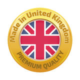 Made in U.K badge with United Kingdom Royalty Free Stock Images