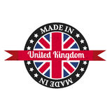 Made in U.K badge with United Kingdom Stock Photo
