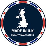 Made in U.K. quality stamp. Vector illustration stock illustration