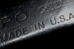 Made in U.S.A., old metalic lighter Stock Photography