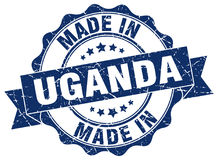 Made in Uganda seal Royalty Free Stock Photo