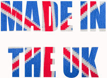 Made In The UK. The national flag (Union Jack) of the United Kingdom knitted Stock Images