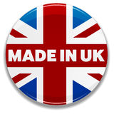 Made In UK. An illustration of a badge with the text Made In UK. Shadow placed on separate layer for ease of use