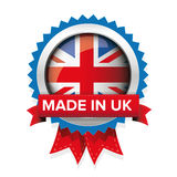 Made in UK badge vector Royalty Free Stock Images