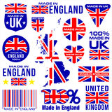 Made in UK ENGLAND. United kingdom VECTOR FLAG MAP GREAT BRITAIN vector illustration