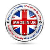 Made in UK, Premium Quality - label / icon / badge. With the United Kingdom`s map and flag Royalty Free Stock Photo