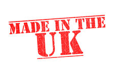 MADE IN THE UK Rubber Stamp. Over a white background stock image