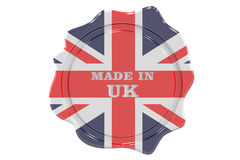 Made in UK seal, stamp. 3D rendering Royalty Free Stock Images