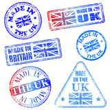 Made In The UK Stamps Royalty Free Stock Images