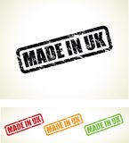 Made in the uk stamps Royalty Free Stock Image