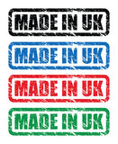 Made in uk stamps Royalty Free Stock Images