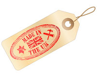 Made In The UK tag Stock Images
