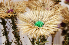 Made-up flowers in the handicraft mart Royalty Free Stock Images