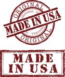 Made in usa. Vector made in usa stamp with red ink Stock Images