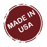 Made in USA. Grunge stamp: made in USA Stock Photography