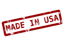 Made in usa. Rubber ink stamp Stock Images