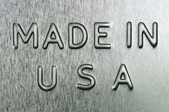 Made in USA Royalty Free Stock Photography