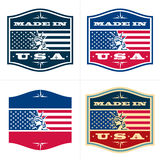 Made in USA. Vector badge, labels Royalty Free Stock Photos