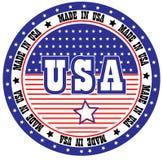 Made in USA. Vector label design Stock Photos