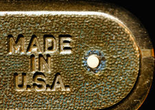 Made in the USA. Label Royalty Free Stock Photo