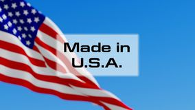 Made in USA stock video footage