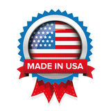 Made in USA badge vector Stock Images