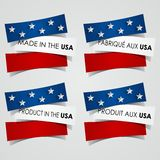 Made in the USA Badges. Creative Abstract Made in the USA Badges vector illustration Stock Photography