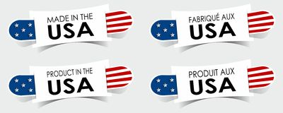 Made in the USA Badges. Creative Abstract Made in the USA Badges vector illustration Stock Photos
